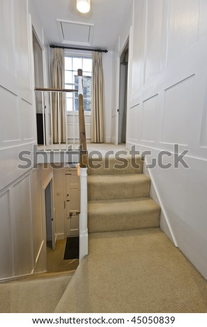 indoor staircase of a georgian town house