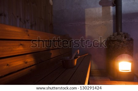 Indoor View of Sauna