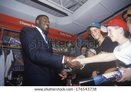 Induction of Larry Johnson into the NBA Hall of Fame, Springfield, MA - stock photo