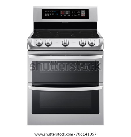 induction range cooker isolated on white background induction stove steam range with convection oven