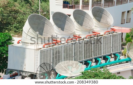 Industrial air conditioner on the roof   - stock photo