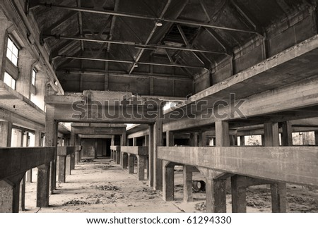 industrial archeology old abandoned factory