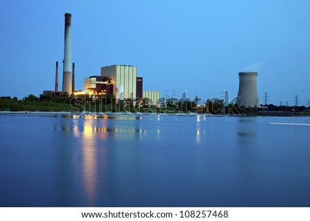 Industrial area in Michigan City, Indiana - stock photo