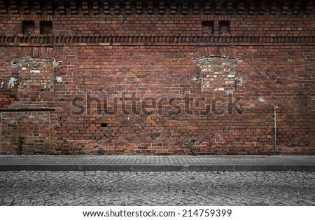 Industrial Background Empty Grunge Urban Street Stock