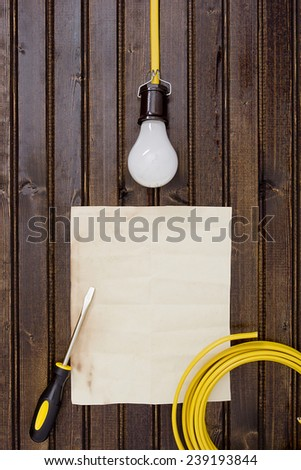 Industrial background on the topic of domestic electricity. - stock photo