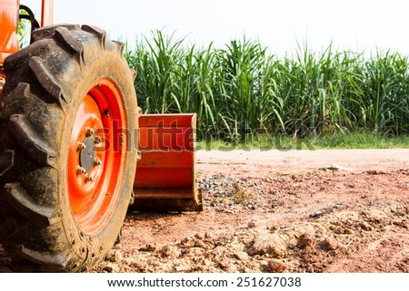 industrial backhoe, bulldozer - stock photo