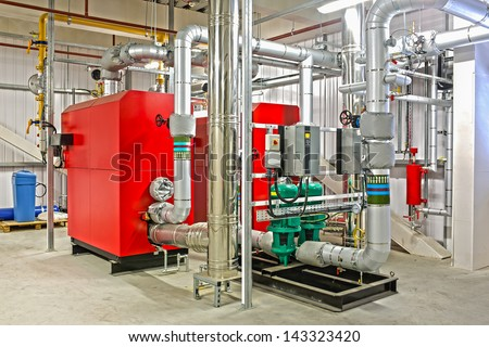 Industrial Boiler - stock photo