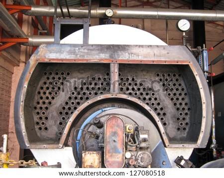 Industrial boiler plant - stock photo