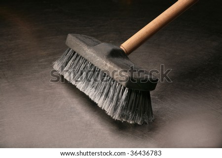 Industrial Broom - stock photo