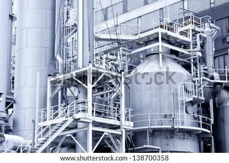 Industrial building and steel pipes