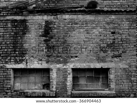 Industrial building brick wall texture background.