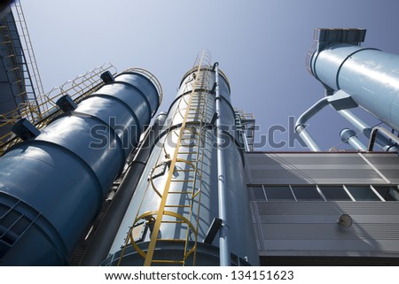 industrial building, the dust collector