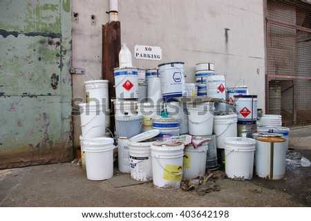 Industrial cans  - stock photo