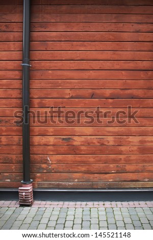 Industrial corner of the building - stock photo
