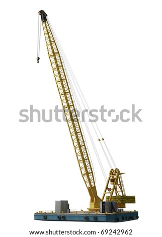 industrial crane isolated high quality - stock photo