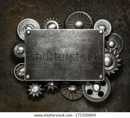 Industrial dark metal background - stock photo