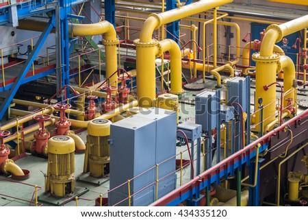 Industrial design factory floor - stock photo