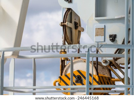 Industrial Details on a working ship and barge
