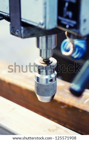 Industrial drill machinery - stock photo