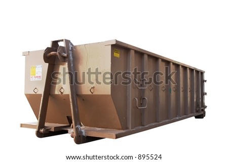 Industrial dumpster - stock photo