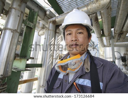 Industrial engineer  working in refinery factory