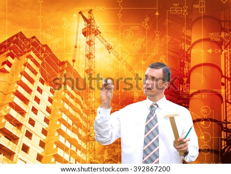 Industrial engineering construction technology - stock photo