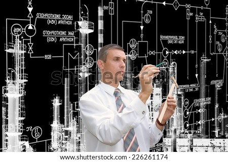 Industrial engineering designing - stock photo