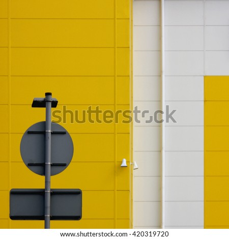 Industrial estate metal warehouse and factory buildings - stock photo