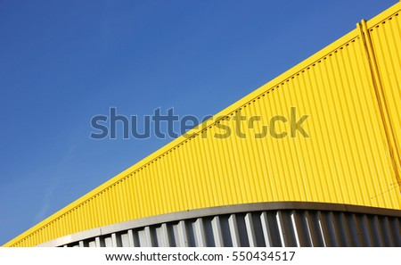 Industrial Estate Warehouse Abstract construction shot