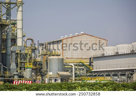 Industrial factory - stock photo