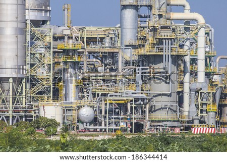 Industrial factory on day time - stock photo