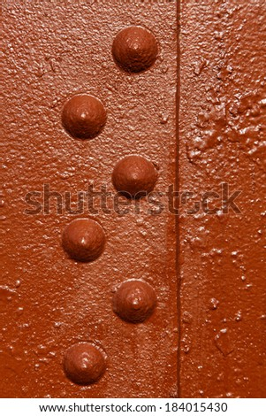 Industrial Factory Steel Construction Metal Plating Rivets  - stock photo