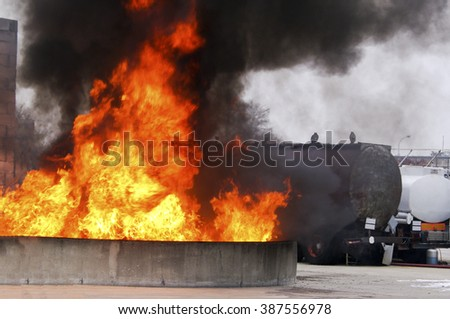 Industrial fire safety security risk - stock photo