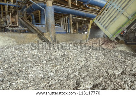 industrial fish meal - stock photo