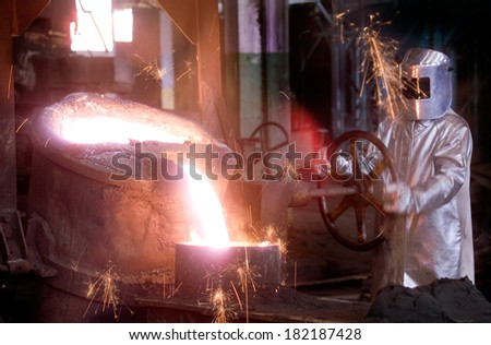 Industrial foundry and casting  - stock photo