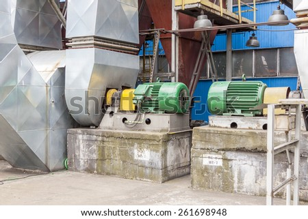 Industrial fumes ventilators system - Poland.