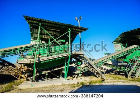 Industrial Gravel Quarry - stock photo