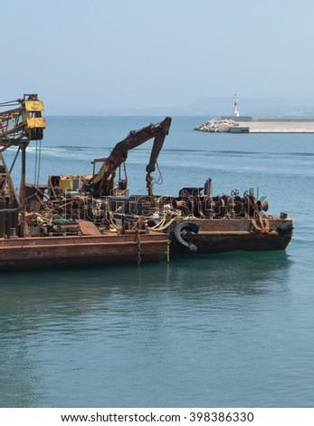 Industrial Harbor Dock Equipment - stock photo