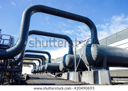 Industrial heating pipelines