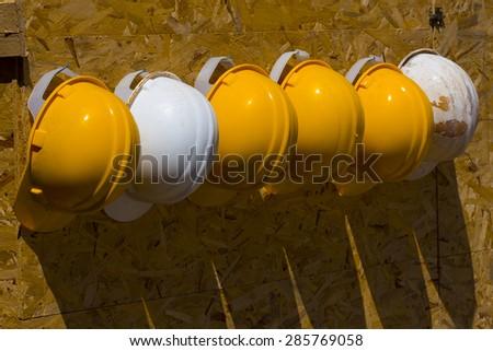 industrial helmets - stock photo