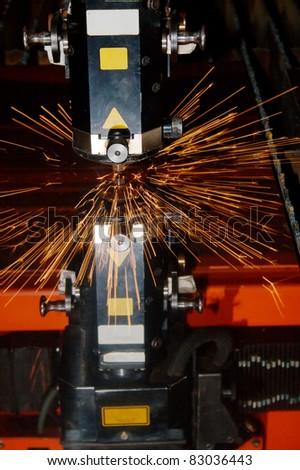 Industrial laser - stock photo