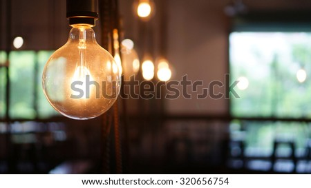 Industrial light bulbs. - stock photo