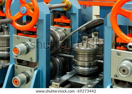 industrial machine - stock photo