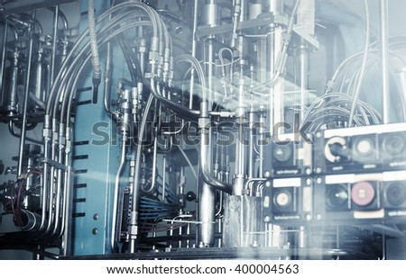 industrial machinery, abstract background.