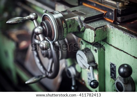 Industrial machines in a old factory