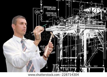 Industrial manufacturing engineering technology - stock photo