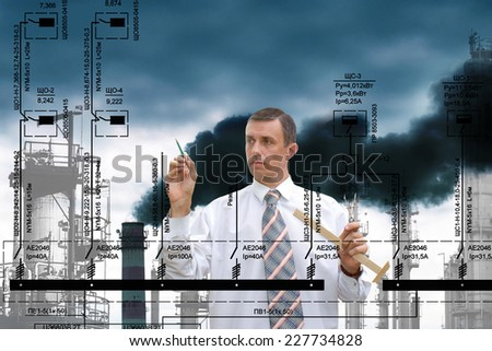 Industrial manufacturing technology - stock photo
