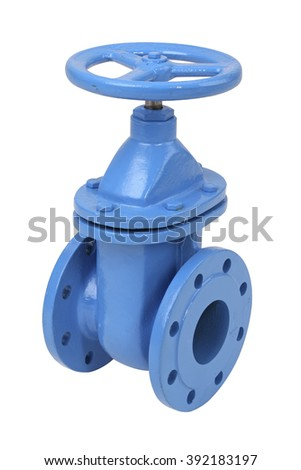 Industrial metal valve for water and other pipeline systems, isolated with clipping path