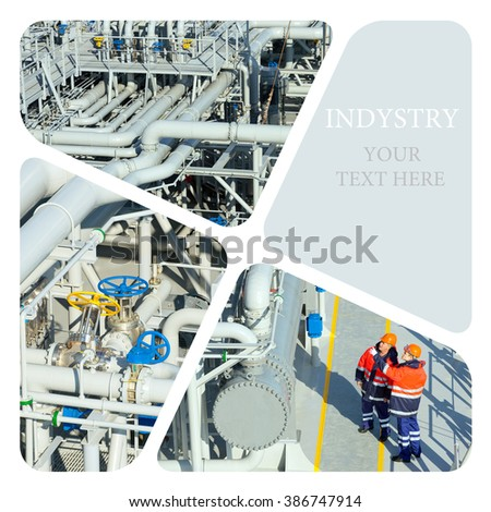 Industrial. Oil And Gas Industry. Work on the gas tanker safety monitor. Industrial concept - stock photo