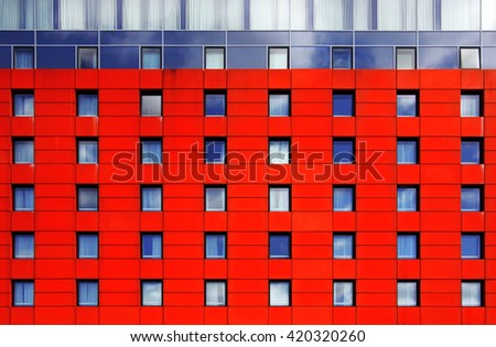 Industrial or business estate building blocks with symmetrical feel